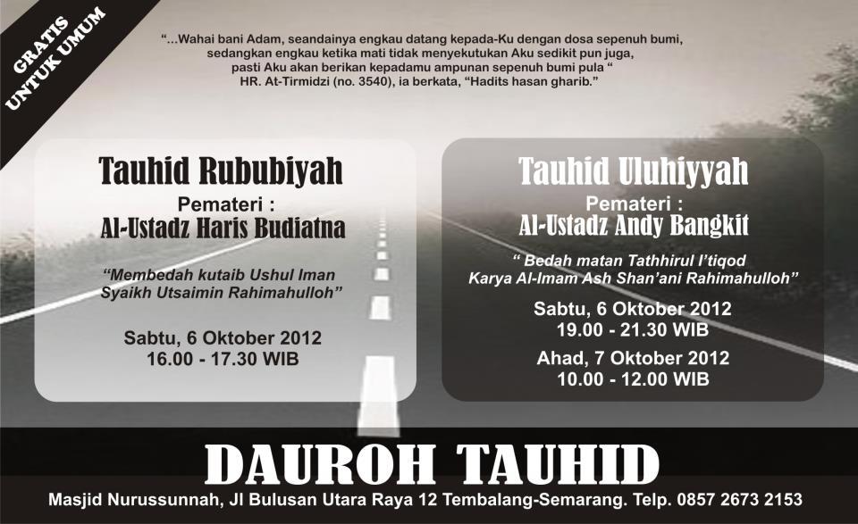 Dauroh Tauhid Nurussunnah