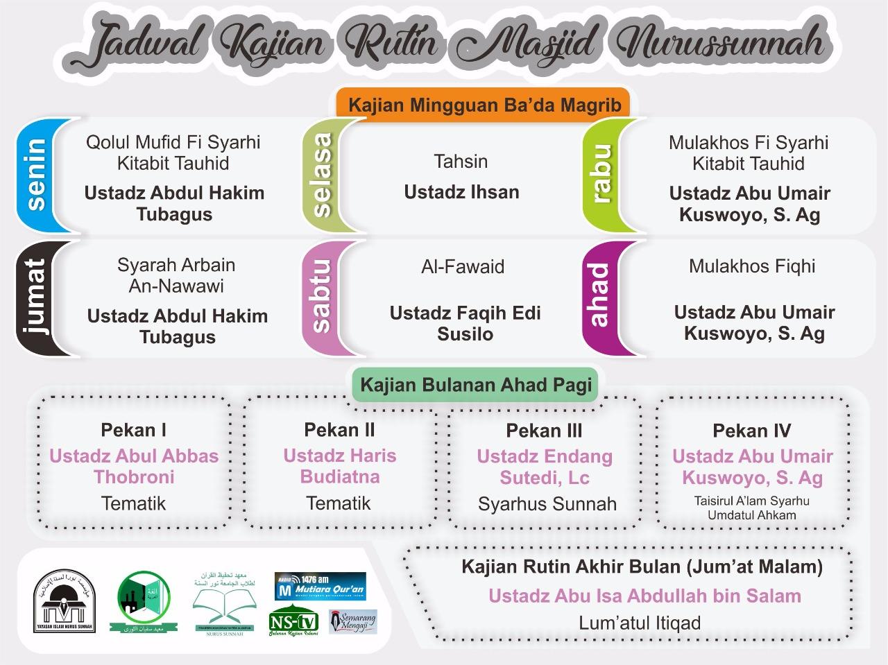 Info Kajian Rutin Masjid 2017