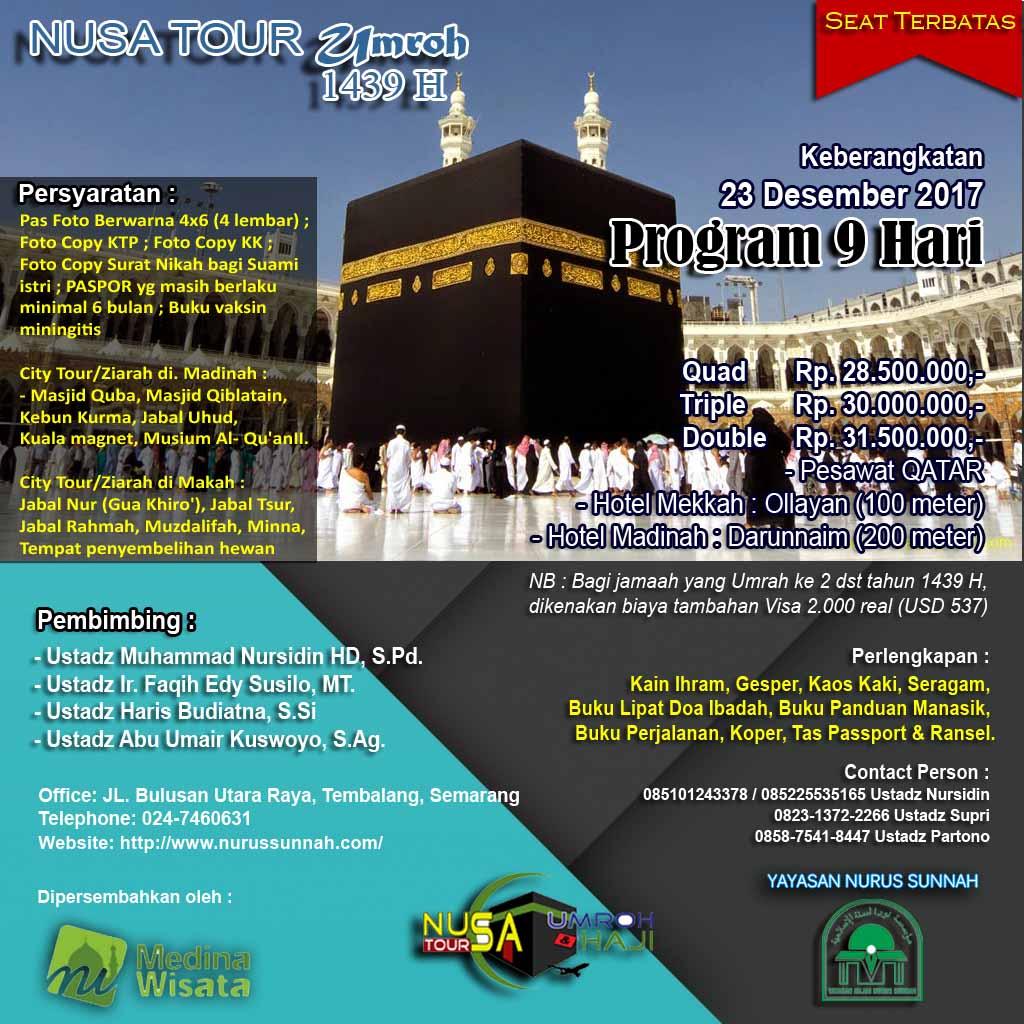 Pendaftaran Umroh Nusa Tour 23 Desember 2017