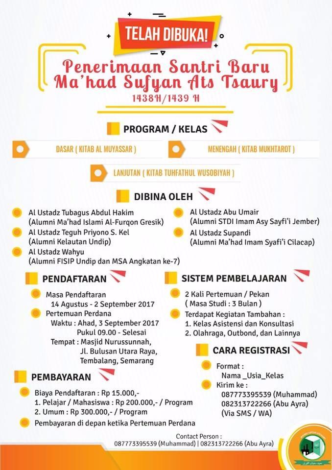 Info Pendaftaran MSA 2017 Gel. 1