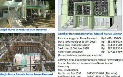 Laporan Rehab Masjid Nurus Sunnah Semarang 10 November 2018